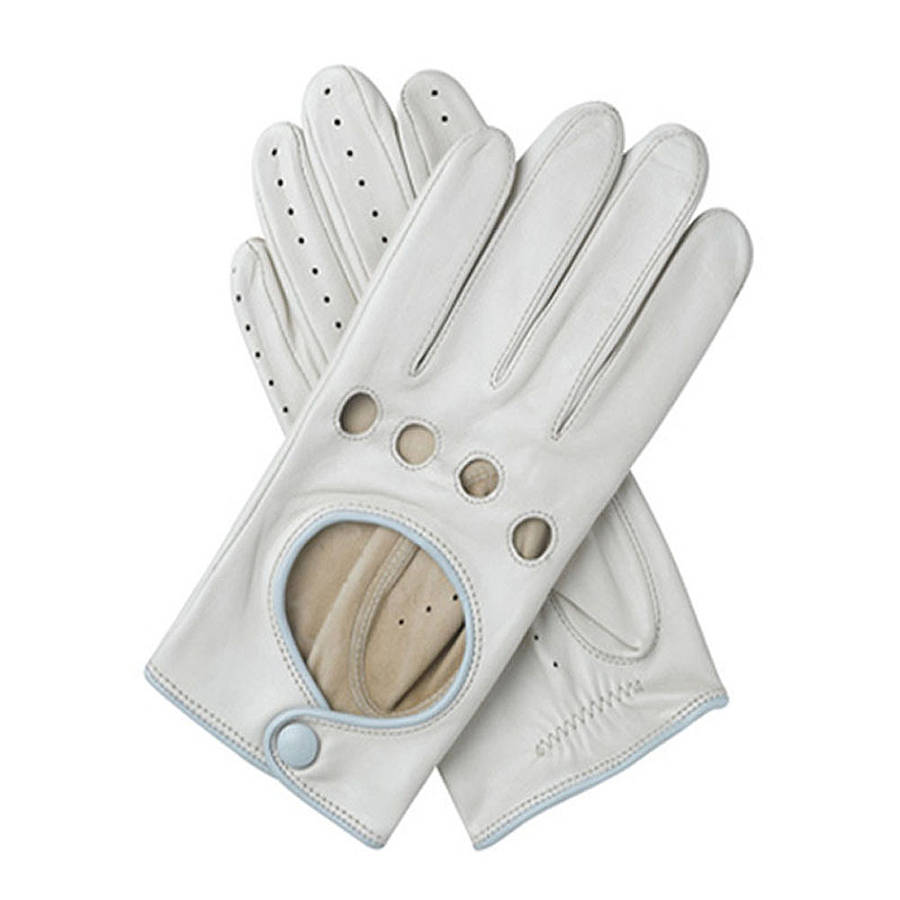 Ladies leather gloves australia - Driving Gloves Australia Jules Women S Contrast Leather Driving Glove Almond