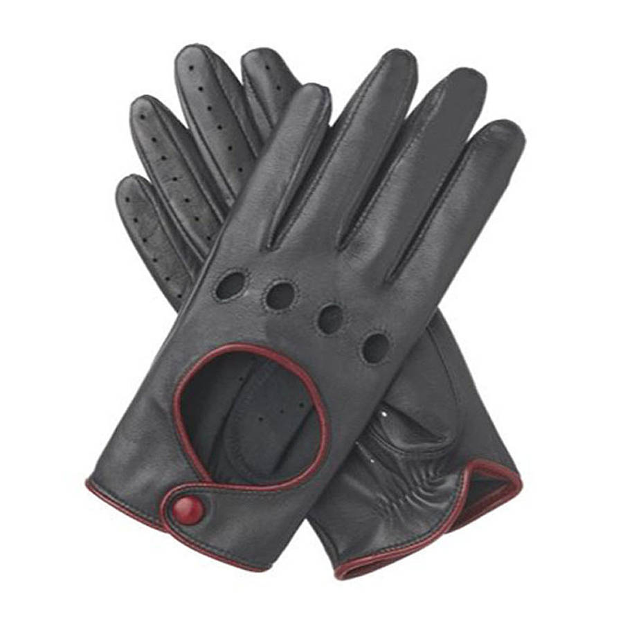 Ladies leather gloves australia - Driving Gloves For Ladies India Jules Women S Contrast Leather Driving Glove Black