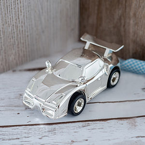 Personalised Sports Car Money Box - home