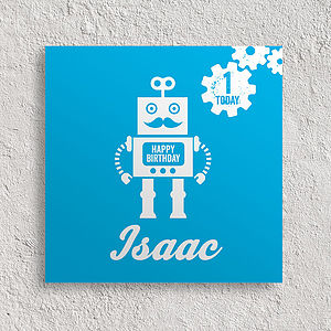 Personalised Birthday Card Robot - birthday cards