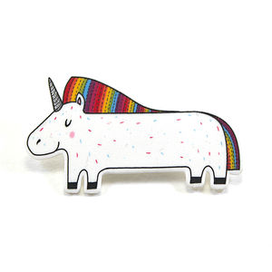 Rainbow Unicorn Brooch