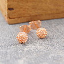Rose Gold Tiny Bubble Stud Earrings