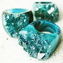 Hand Carved Quartz Opulent Crystal Ring