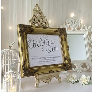 Welcome Personalised Wedding Sign - outdoor decorations
