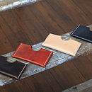 Handmade Leather Card Slip