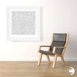 Word Search Silkscreen Print In 24ct Gold Leaf