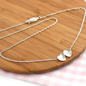 Personalised Silver Valentine Heart Necklace - necklaces & pendants