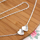 Personalised Silver Valentine Heart Necklace