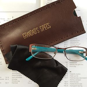 Personalised Brown Glasses Case - glasses cases