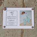 Personalised Birth Announcement Stamp