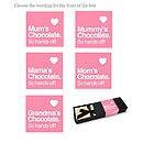 Mother's Day Chocolate Bar Box Set