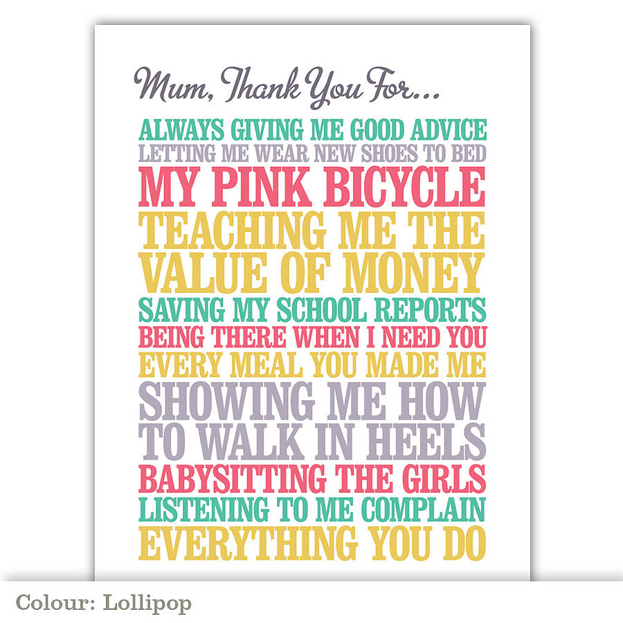 personalised thank you print by rosie robins com personalised thank you print