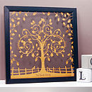 Personalised Floral Family Tree Papercut