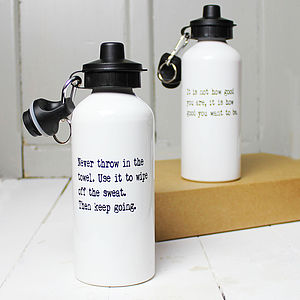 Personalised Inspirational Quote Water Bottle - tableware