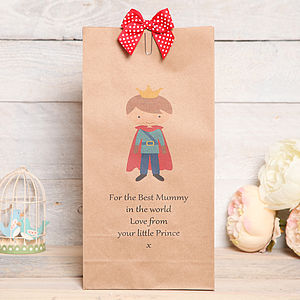Prince Or Princess Mothers Day Bag - gift bags & boxes
