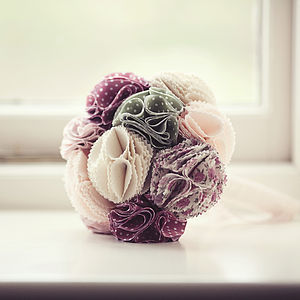 Fabric Bridal Bouquet - flowers & plants