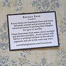 Rococo Rose Insert Card