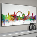 White background panormaic canvas