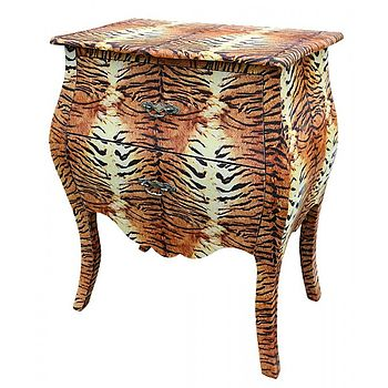 tiger print chest