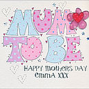Personalised Mother To Be Mother's Day Card
