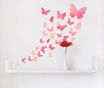 Watercolour Butterfly Wall Stickers