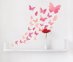Watercolour Butterfly Wall Stickers - children's room accessories