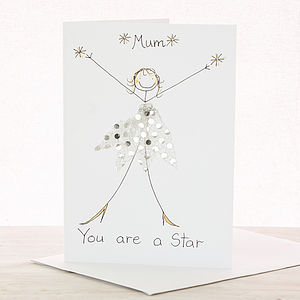 Handmade Personalised 'You Are A Star' Card - congratulations cards