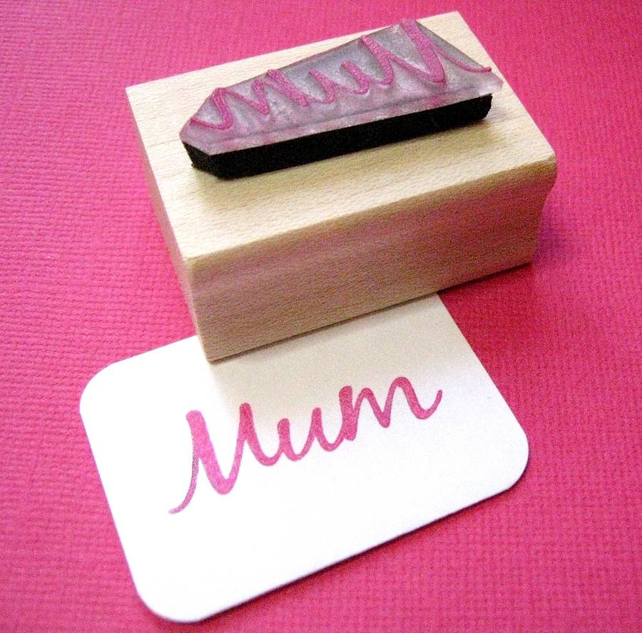 Happy Mother/'s Day Personalise Cards Little Script Clear Stamp to Make