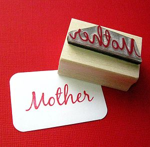'Mother' Mothers Day Gift Rubber Stamp - winter sale