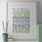 Personalised Thank You Print - mother's day