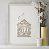 Personalised Our Home Print - sale