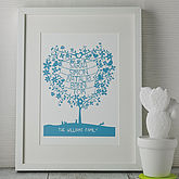 Personalised Mothers Day Tree Papercut Print - mother's day