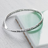Mother And Daughter Message Bangle - gifts for her