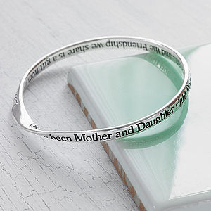 Mother And Daughter Message Bangle - bracelets & bangles