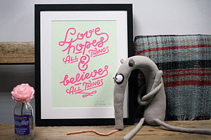 'Love Hopes' A3 Print