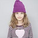 Heart Print Striped Girls T Shirt
