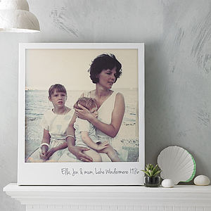 Personalised Giant Polaroid Photo Canvas - people & portraits
