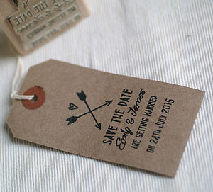 Hearts And Arrows Save The Date Stamp