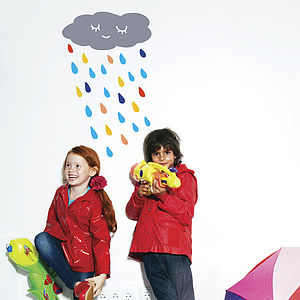 Multi Colour Rain Wall Sticker - home decorating