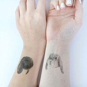 Bunny Temporary Tattoos