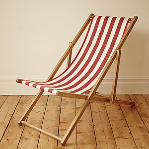 Stripy Vintage Deck Chair - garden furniture