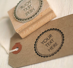 Your Text Here Rubber Stamp - summer sale