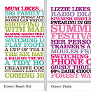 Personalised 'Likes' Poster Print