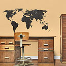 Chalkboard World Map Wall Sticker