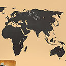 Blackboard World Map Wall Sticker