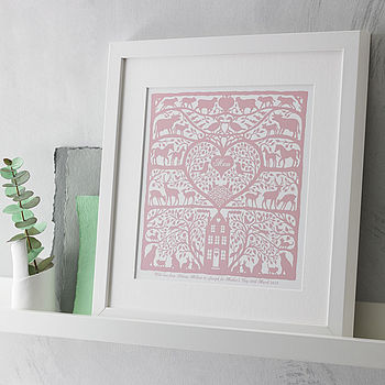 framed print in Cinder Rose colour