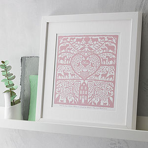 Personalised Heart Of The Home Mum Print - gifts for mothers