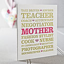Mothers Professions Card