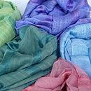 Bright Silk And Linen Pashmina Scarves