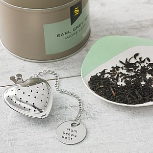 Personalised Heart Tea Diffuser - mother's day gifts